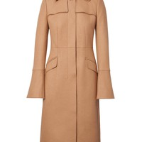 Italian Melton Wool-Blend Long Trench Coat|banana-republic