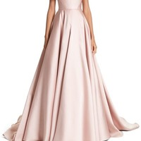 Marchesa Corsage Off the Shoulder Satin Ballgown | Nordstrom