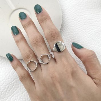 Simple Ring Real 925 Sterling Silver Punk Anillos Jewelry Vintage Minimalism Haut Femme Bague Femme Aneis Joyas Rings for Women