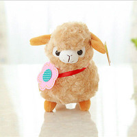 Cute Soft Alpaca Sheep Plush Toy Cream Arpakasso Llama Doll Animal Kid Gift 3C