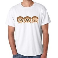 Men's Tee Shirt 3 Monkey  Shirt Cool Fun Nice Gift