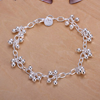 Grapes Hanging Light Bead Bracelet