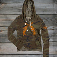 Junior's Country Girl ® Six-Shooters Camo Hoodie