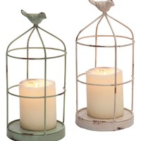 Foreside Set of 2 Bird Cage Candle Holders | Nordstrom