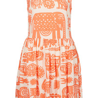 Animal Ladder Back Dress - Slips & Sun Dresses - Dresses - Clothing - Topshop USA