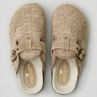 AEO CABLE KNIT COZY CLOG