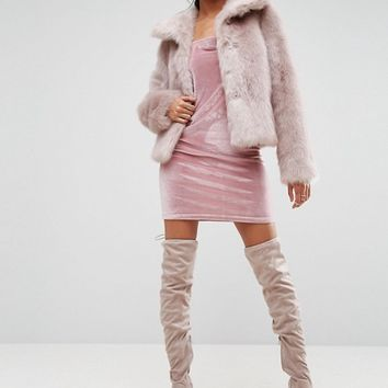 ASOS Chubby Vintage Faux Fur Coat at asos.com