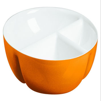 Guzzini Two-tone hor-d'oeuvres dish in Orange