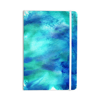 "Ashley Rice ""AC3"" Teal Watercolor Everything Notebook"