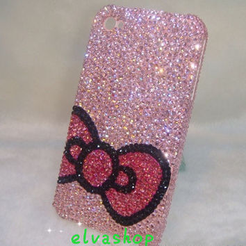 Pink iphone 4 case iphone 4s case cover handmade,bling  rhinestone iphone 5 case,Samsung Galaxy S3 case