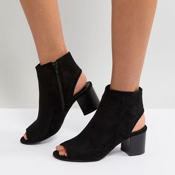 London Rebel Peep Toe Sandal at asos.com