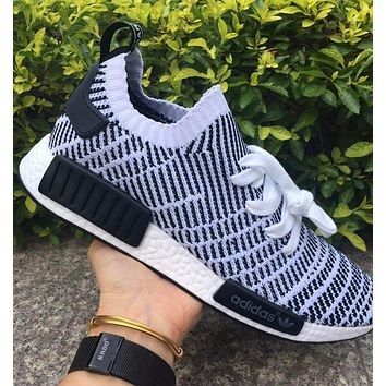 Adidas NMD R1 Stlt Spring Summer 2018 Line up Black/White Running Sport Shoes Camouflage Sneakers Casual Shoes
