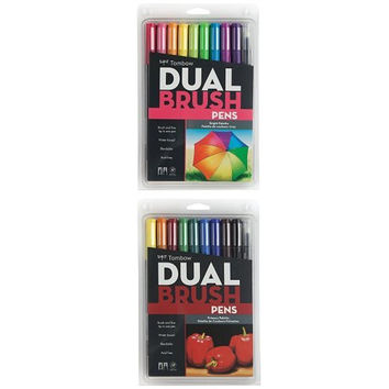 Tombow Dual Brush Pen Art Markers 10-Pack Dual Color