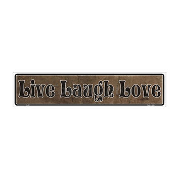 SmartBlonde Live Laugh Love Novelty Metal Vanity Mini Street Sign