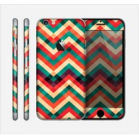 The Abstract Colorful Chevron Skin for the Apple iPhone 6