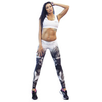 Adventure Time Fitness Women Sports Leggings Digital Printing Knitted Jeggings Workout Tights Sexy Gym Clothes Leggins fitness bottoms