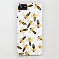 Bee pattern iPhone Case by Georgiana Paraschiv
