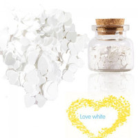 ZERO NANA Heart Type Sequins Nail Art Decoration White - Default