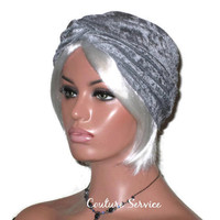 Handmade Silver Twist Turban, Velour