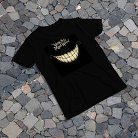 "THE SAMPLE size of the print image on the T-Shirt 12""x12"" We're All Mad Here"
