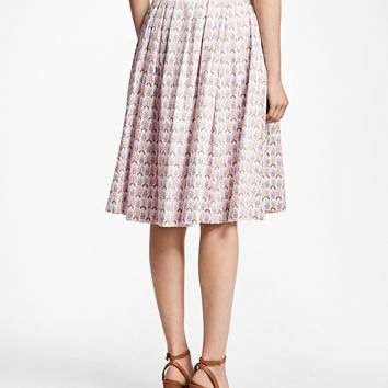 Floral Cotton-Sateen Pleated Skirt - Brooks Brothers