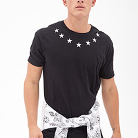 Star Print Tee Black/White
