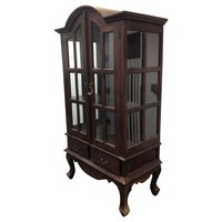 Pre-owned Wooden Hutch with Glass Panels