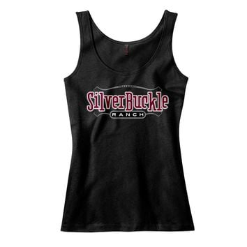 Silver Buckle Ranch Racerback Tank Top