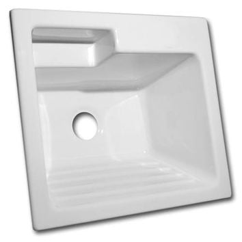 CorStone Industries 12300 Westerly Acrylic White Self Rim Laundry Sink