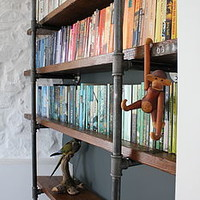 Industrial Vintage Wooden Shelves