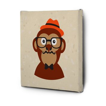 Hipster Animals Pictures Canvas Wall Art Painting Prints Decor Monkey