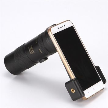 Free Shipping HUANDEE HD 10-30x30 Monocular zoom  Binoculars adjustable Portable telescope camera lens with clip for iphone