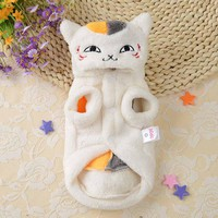 """Coral Fleece Pet Cat Clothing Winter Warm Casual Cat Hoodie Coat """"Cat Teacher"""" Pets Clothes for Poodle Cats Small Dogs XS-XL"""