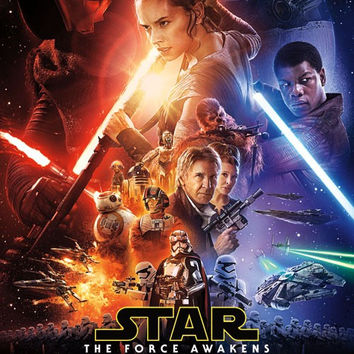 SWTFA - One Sheet Movie Poster 22x34 RP14353 UPC882663043538 Star Wars The Force Awakens