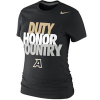 Army Black Knights Nike Women's Local Slim Fit T-Shirt – Black