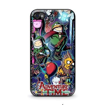 adventure time legend of zelda iphone 4 4s case cover  number 1