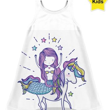ROCD Mermaids And Unicorns Children's Dress