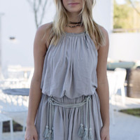 Riviera Beach Gray  Romper