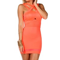 Neon Caged Bodycon