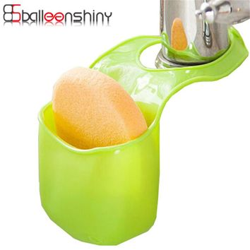 BalleenShiny 1pc Sponge Soap Hanging Storage Box Bathroom Kitchen Gadget Makeup Cosmetic Organizer Sink Faucet Toothbrush Holder