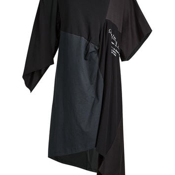 Draped Cotton Dress - Balenciaga | WOMEN | KR STYLEBOP.COM