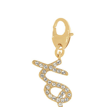 Kate Spade Pave Xo Charm Clear/Gold ONE