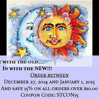 15% off coupon code for your entire order! New Year Sale between 12/27/2014 and 1/1/2015
