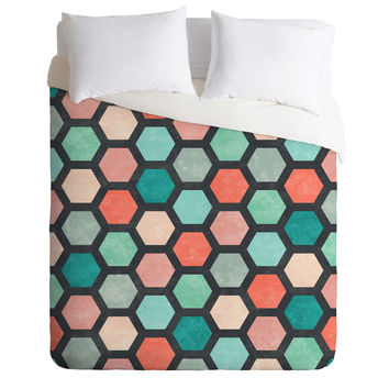 Jacqueline Maldonado Hexagon 1 Duvet Cover