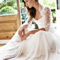 Walking Down the Aisle: Brides With Sleeves Do It Better   Wedding Party