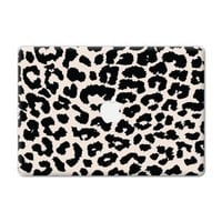 "Black and White Leopard ""Protective Decal Skin"" for Macbook 13"" Laptop"