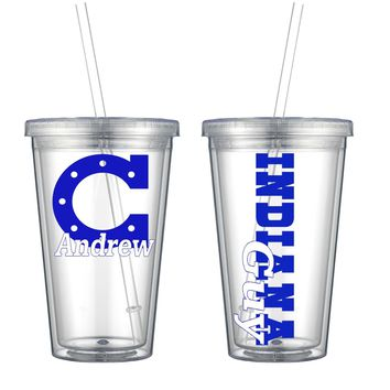 Indiana Personalized Acrylic Cup - Perfect Gift - Free Shipping