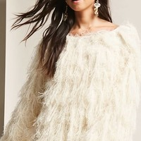 Fuzzy Knit Fringe Sweater