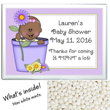 Spring Baby Shower Mint Favors