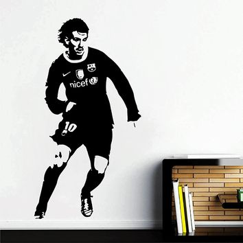 ik2879 Wall Decal Sticker Leo Messi Barcelona Football Soccer Player bedroom living room